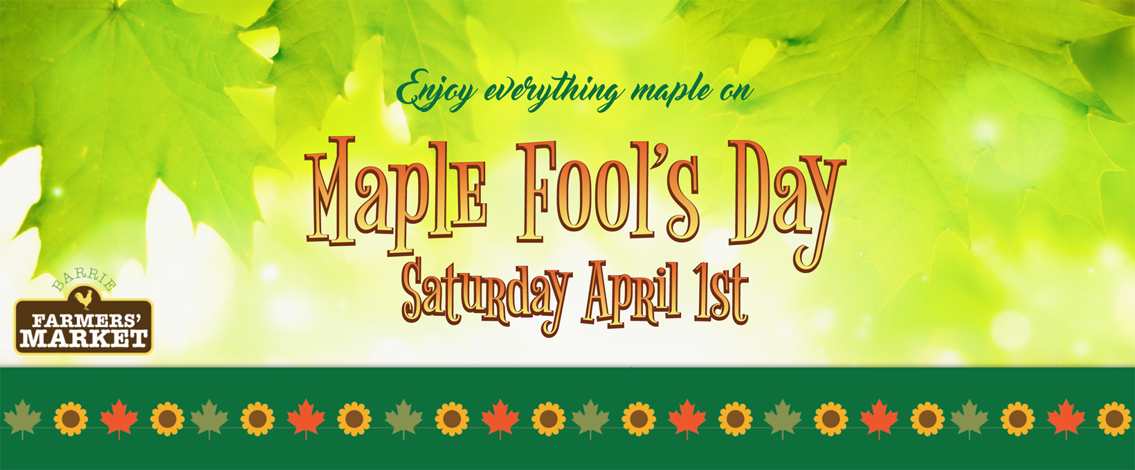 Image result for Maple Fool's Day at The Barrie Farmers' Market